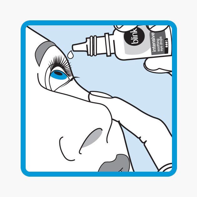 Step 3 - Squeeze the upturned bottle or vial to release one or two drops into your eye. Make sure the vial or bottle never touches your eye or any other surface