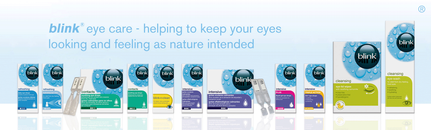 blink® eye care - helping to keep your eyes looking and feeling as nature intended